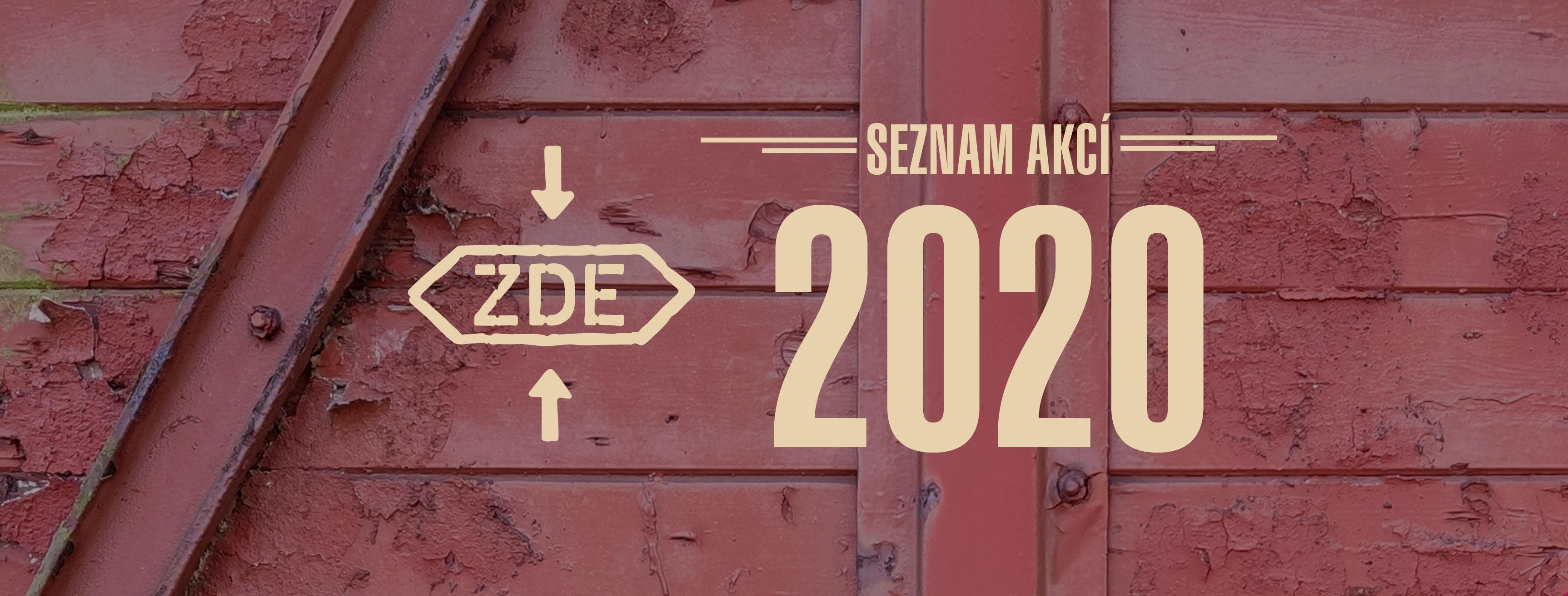 Seznam vlakových akcí pro rok 2020