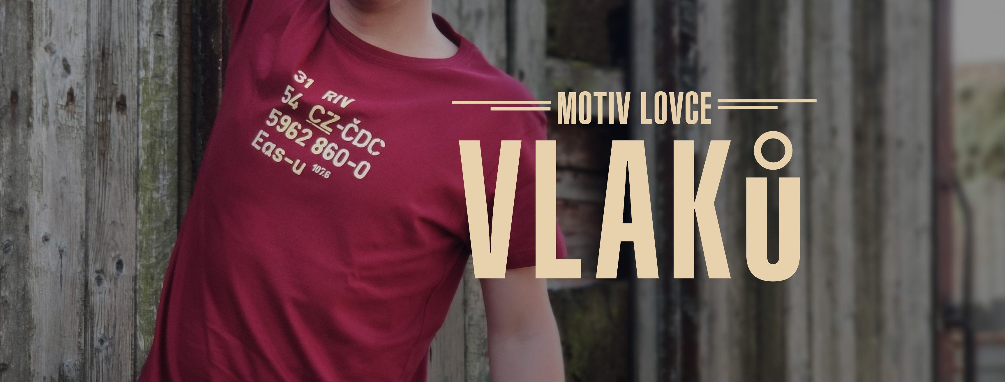 motiv lovce vlaků červené triko RIV