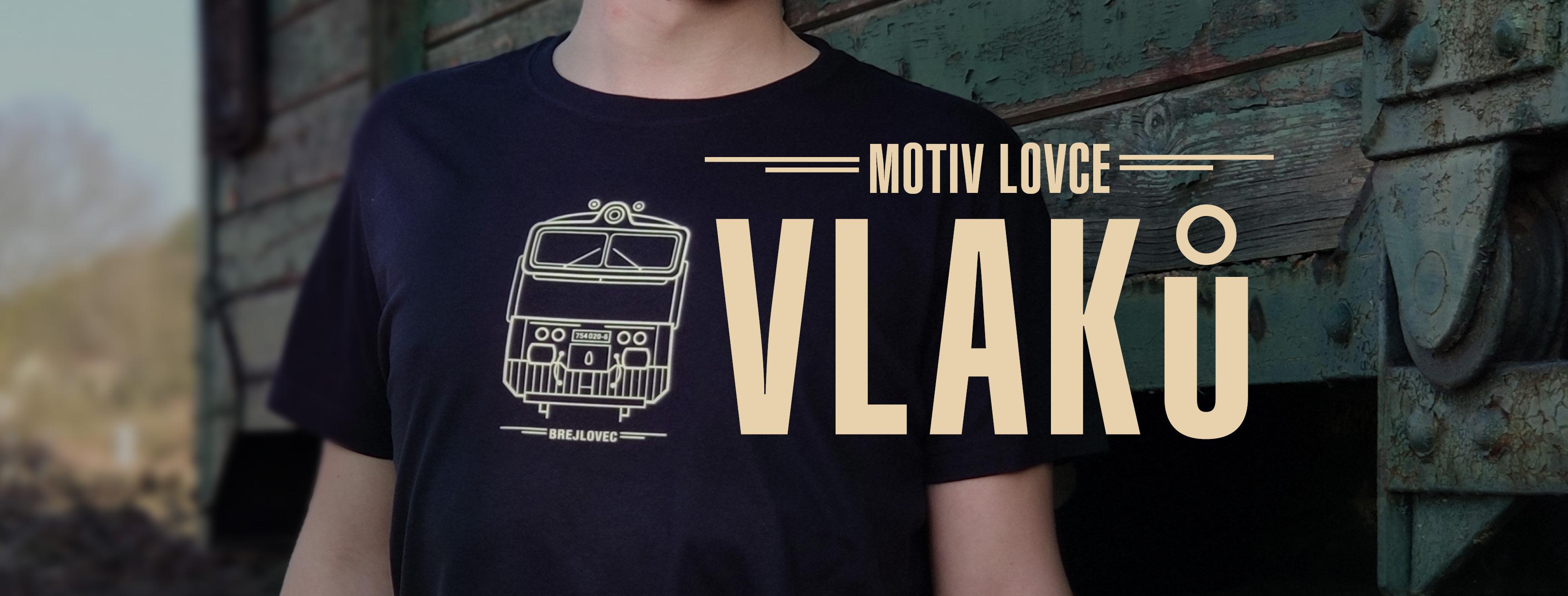 Motiv lovce vlaků modré tričko BREJLOVEC