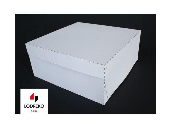 dortova krabice pevna bila 20 x 20 x 10 cm neposilame v balicich