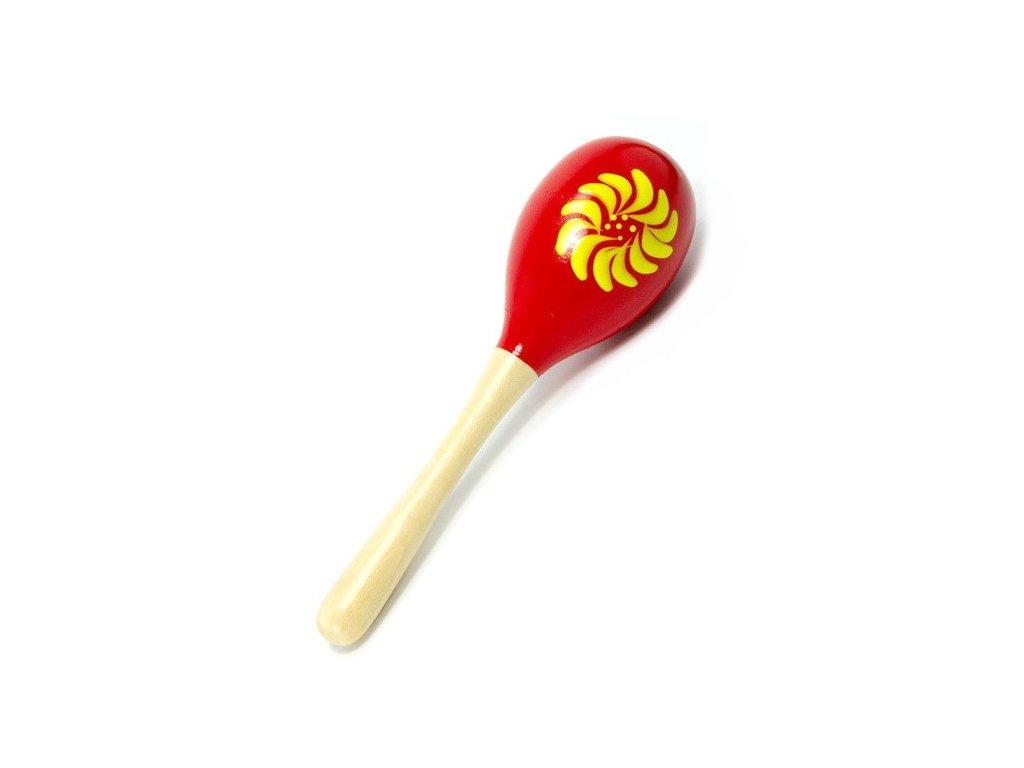 Rumbakoule velká - červená s kytkou