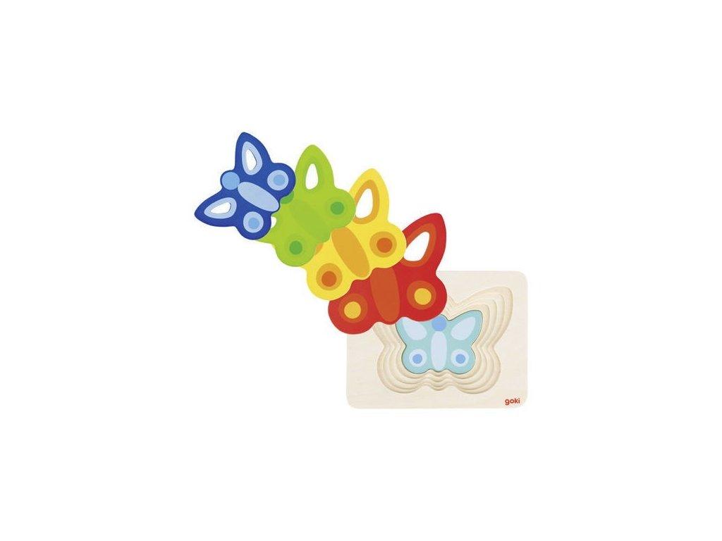 Vícevrstvé puzzle - Motýlek