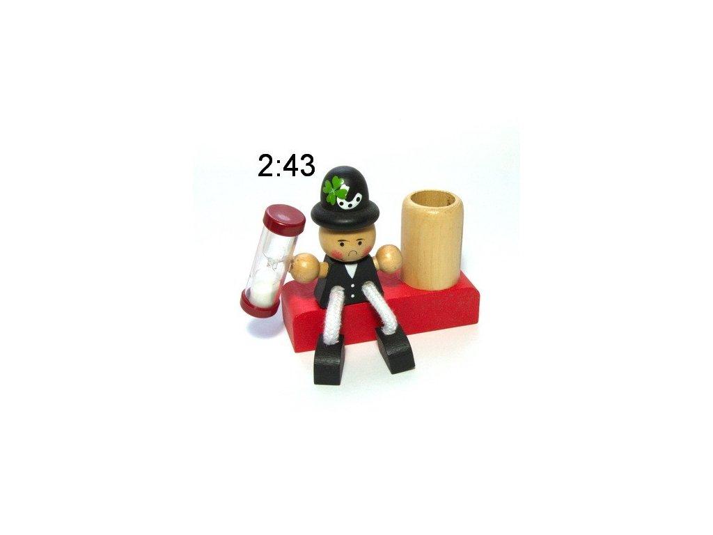 Kominík 2 - dřevěný stojánek na kartáček (doprodej)