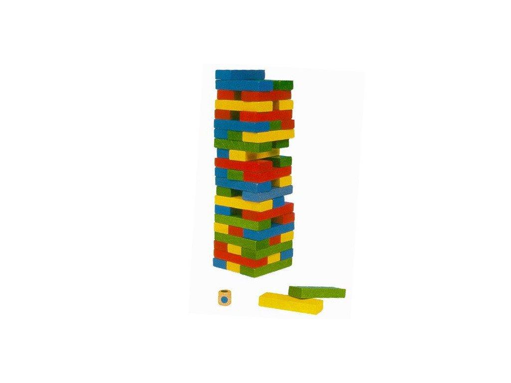 Jenga vež - barevná