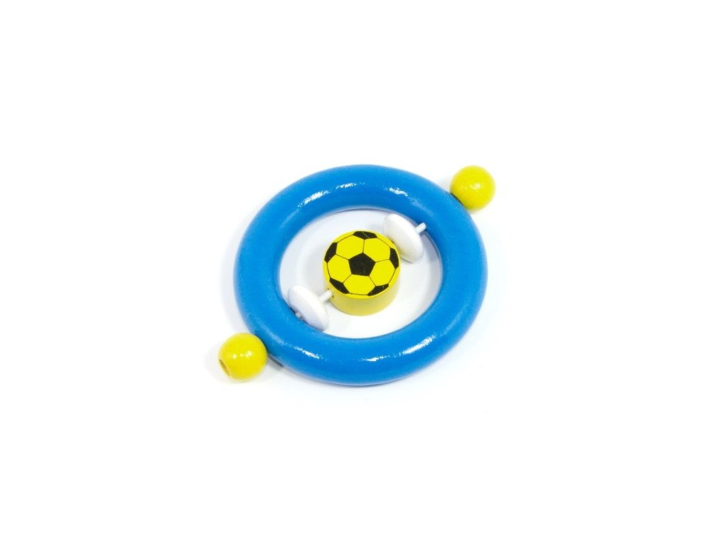 Modrý kroužek - žlutý fotbal