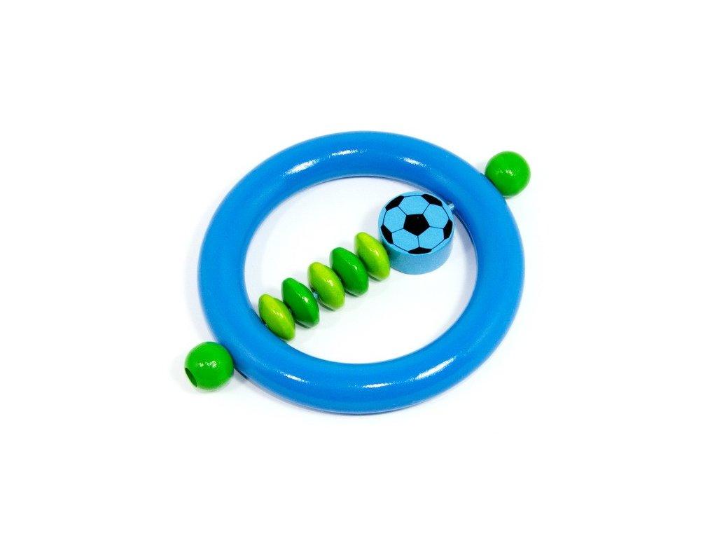 Fotbal světle modrý - kroužek modrý