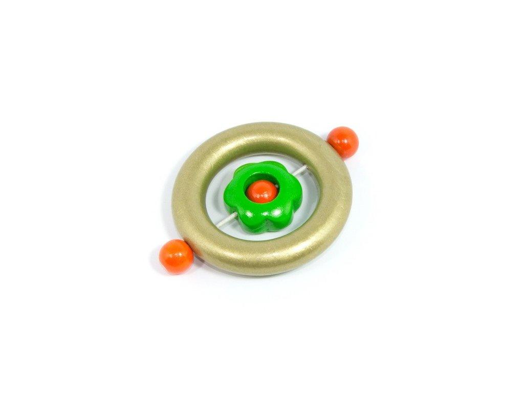 Zlatý kroužek - zelená kytička