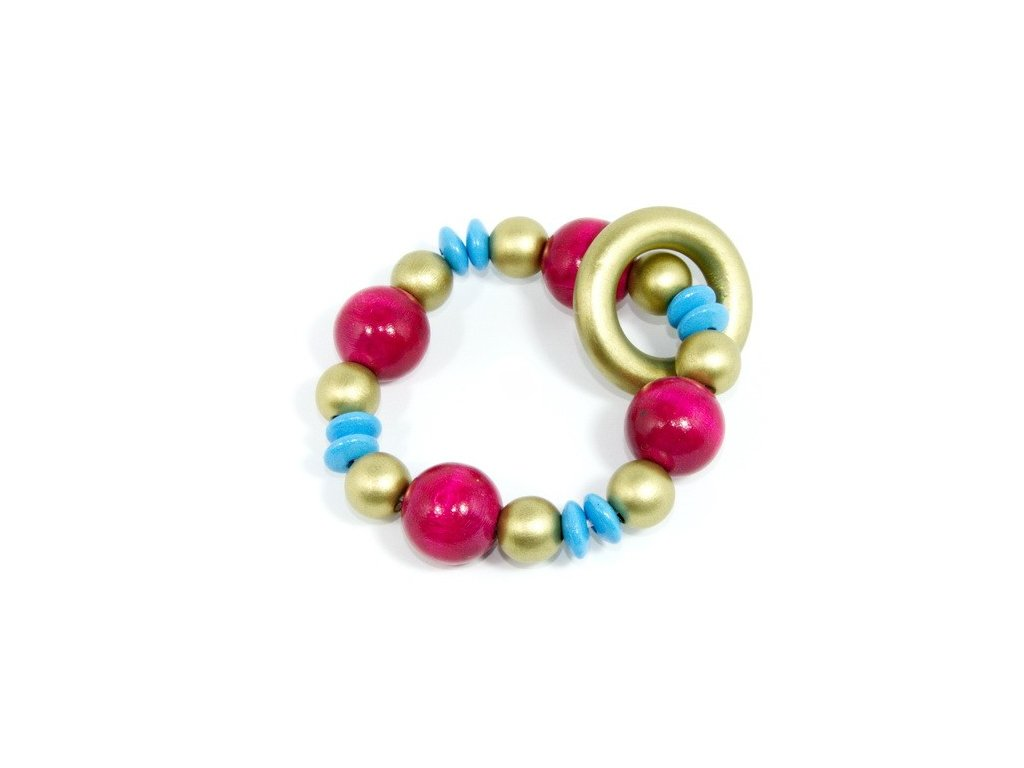 Elastická hračka pro miminka - zlatý kroužek