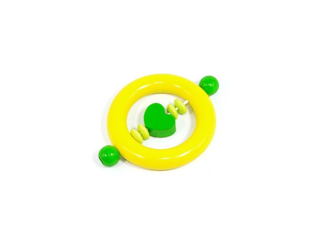 Žlutý kroužek - zelené srdíčko