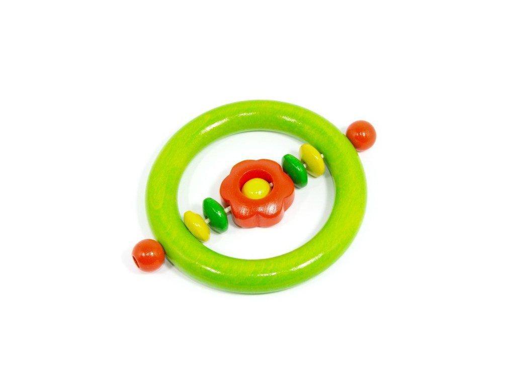 Kytička oranžová - kroužek světle zelený