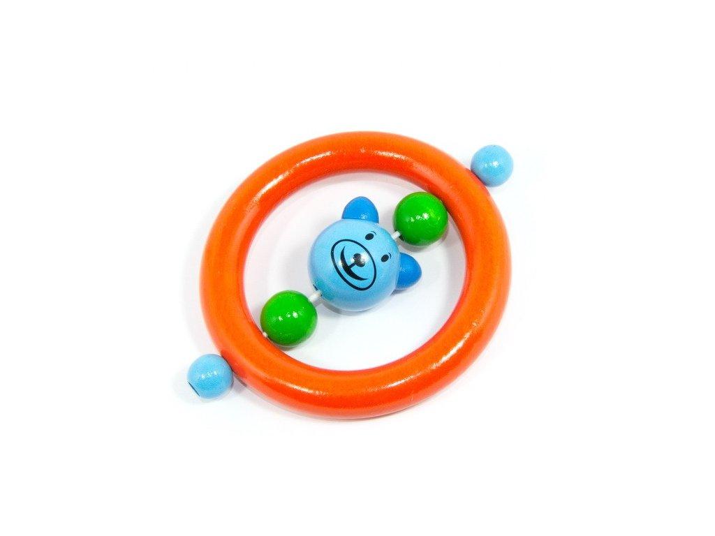 Medvěd modrý - kroužek oranžový