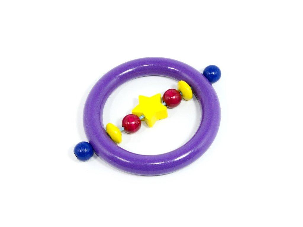 Hvězdička žlutá - kroužek fialový