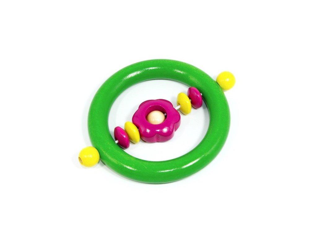 Kytička tmavě růžová - kroužek zelený