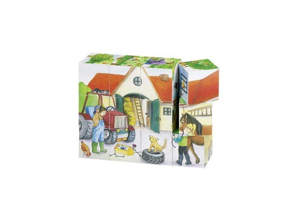 Kostky v dřevěné krabičce – Život na statku