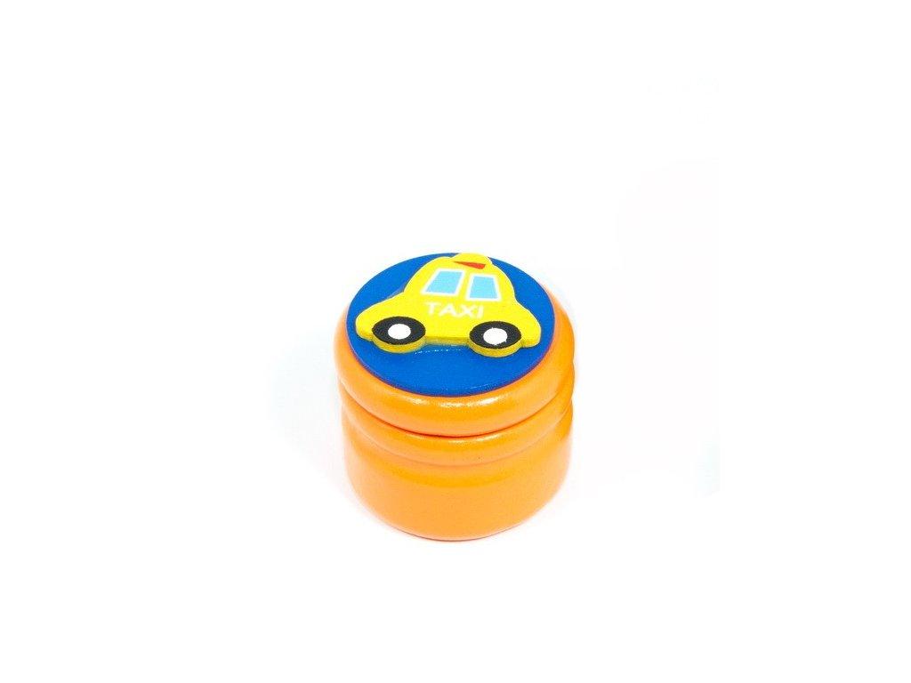 Dózička na mléčné zuby Taxi - oranžová