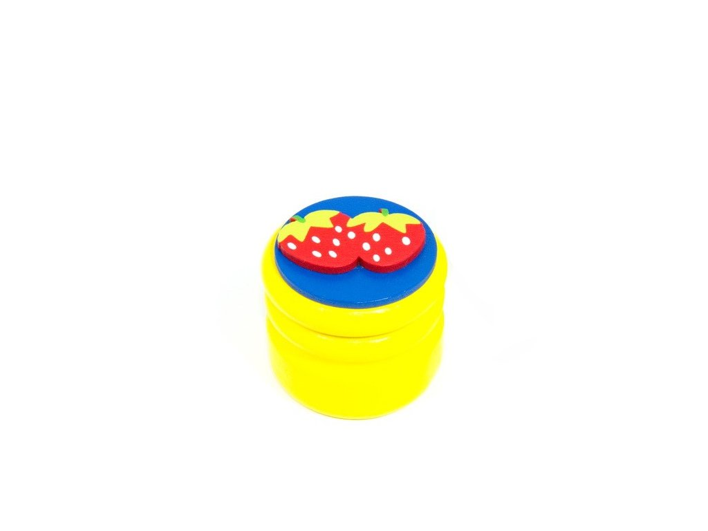 Dózička na mléčné zuby Jahody - žlutá