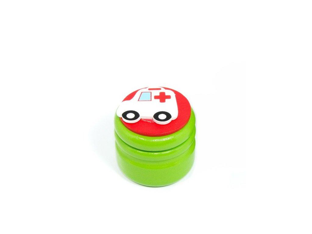 Dózička na mléčné zuby Sanitka - zelená