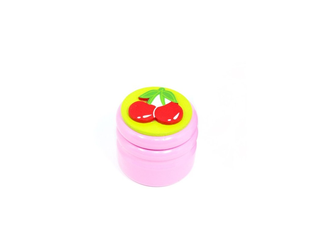 Dózička na mléčné zuby Třešně - růžová