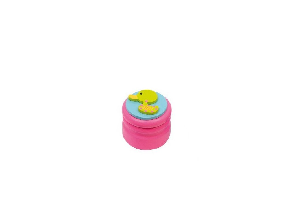 Dózička na mléčné zuby Kachnička - růžová