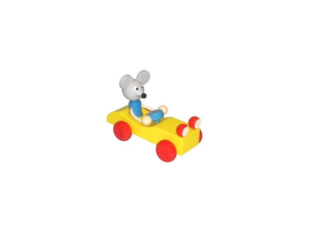 Myš v autě - tahací hračka