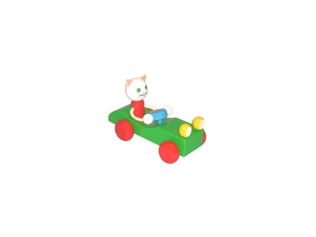 Kočka v autě - tahací hračka