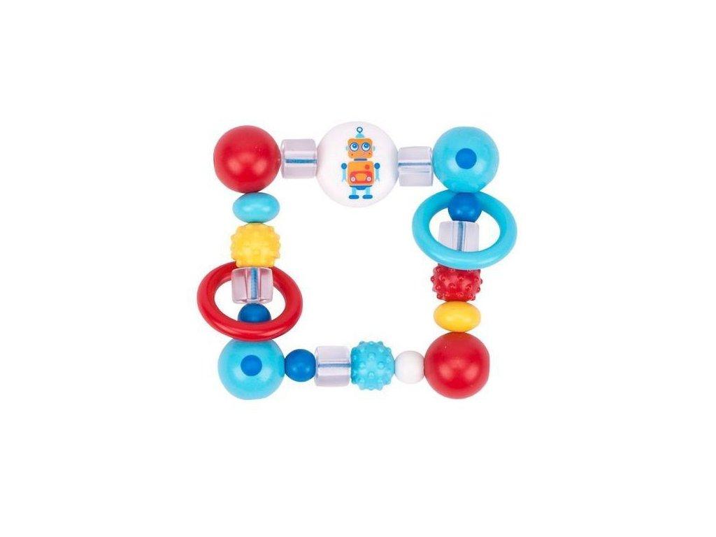 Plastová hračka do ruky – čtverec robot