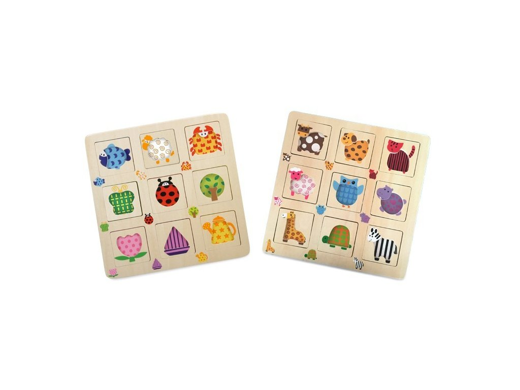 Sada odkrývacích puzzlí - 2ks