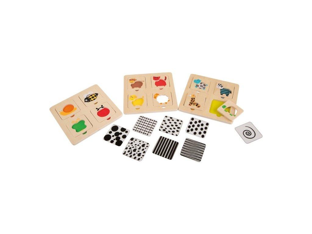 Sada zábavných odkrývacích puzzlí