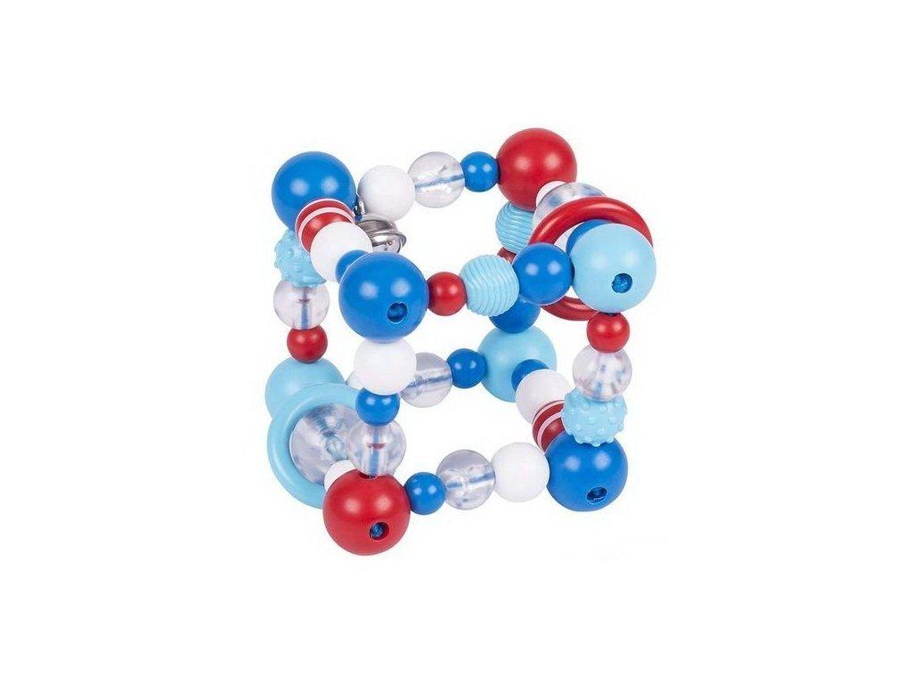 Plastová hračka do ruky krychle modrá