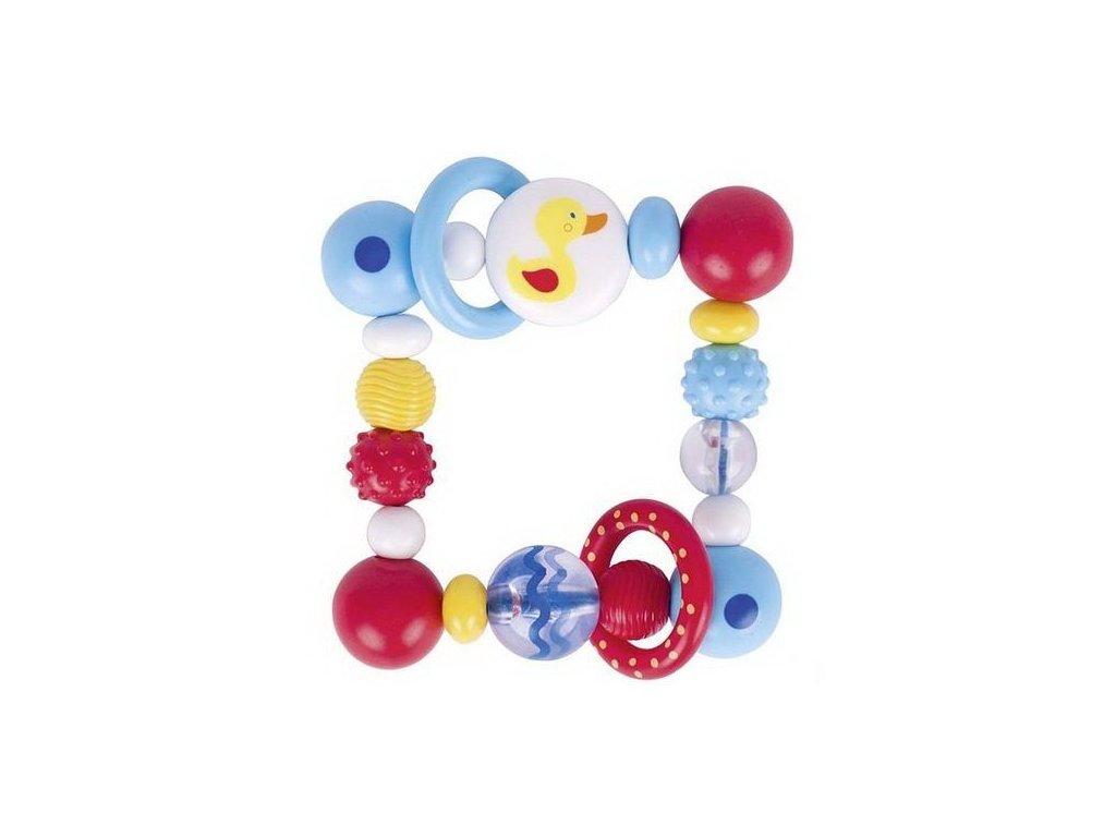 Plastová hračka do ruky čtverec – kačenka