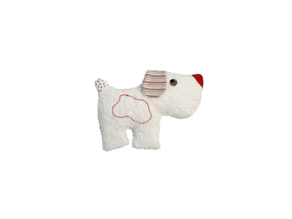 Pejsek – plyšová hračka mazlíček s chrastítkem BIO bavlna