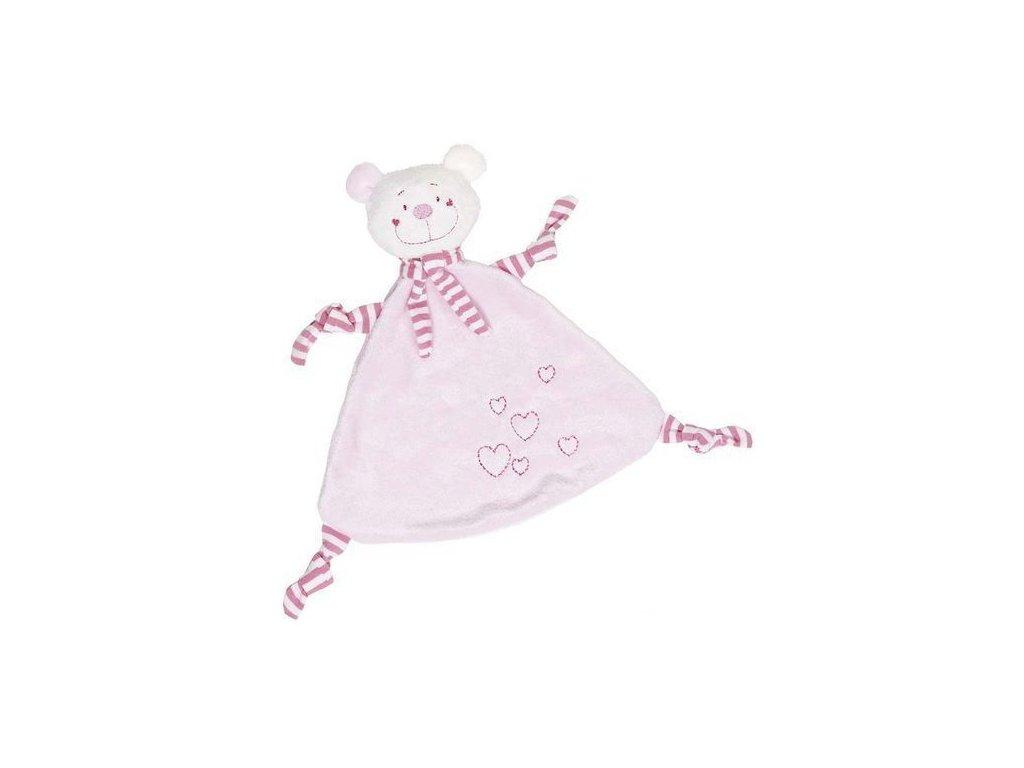 Mazlivá hračka usínáček – Růžový medvídek se srdíčkem