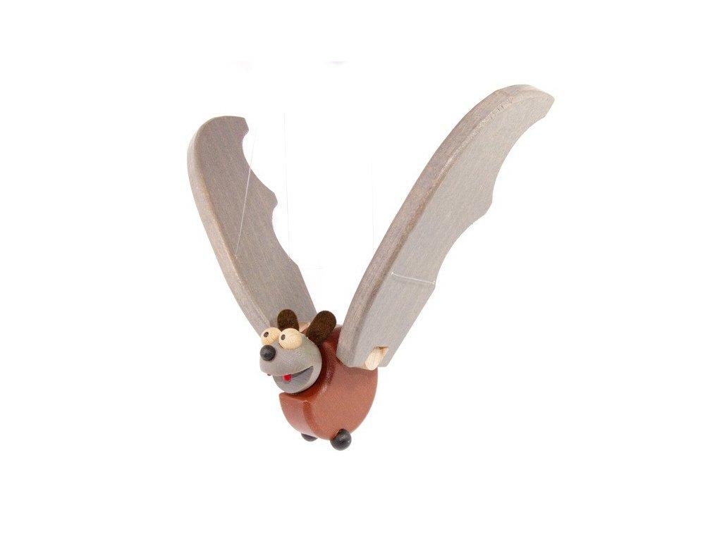 Létací netopýr vykulený