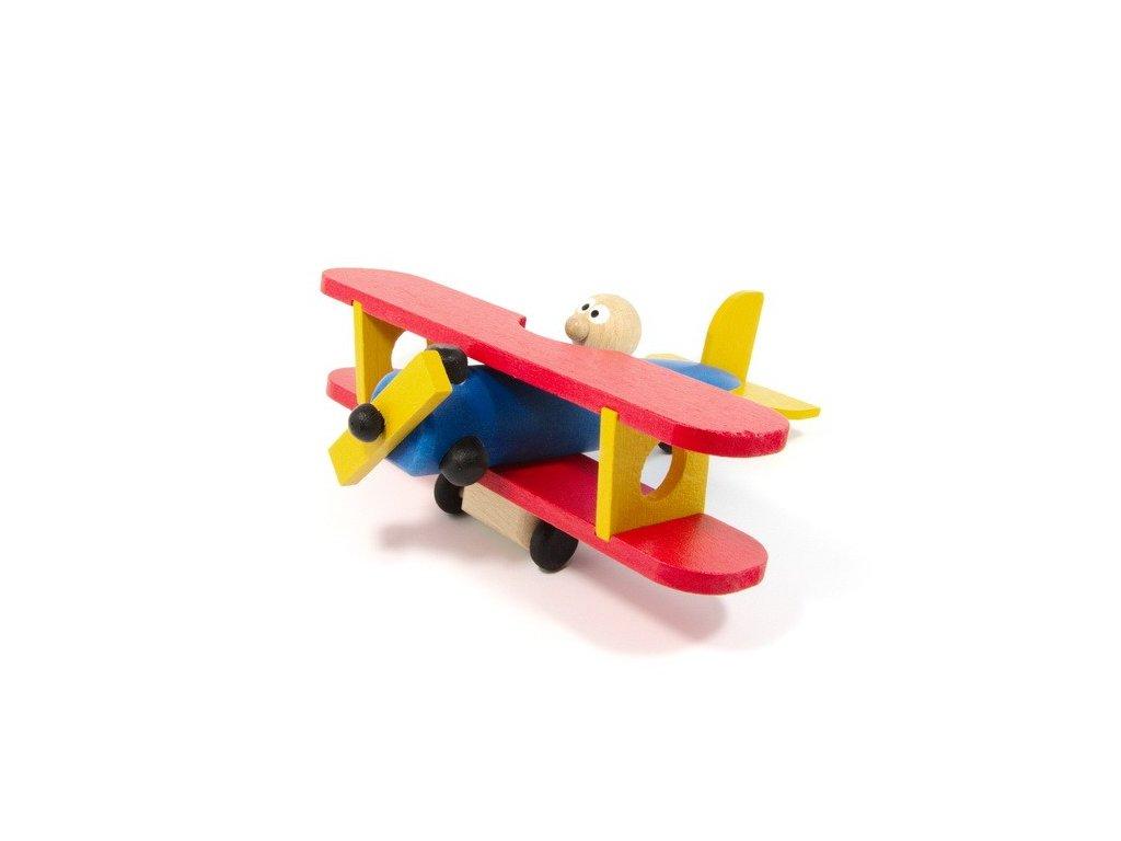 Dřevěné letadlo - barevné