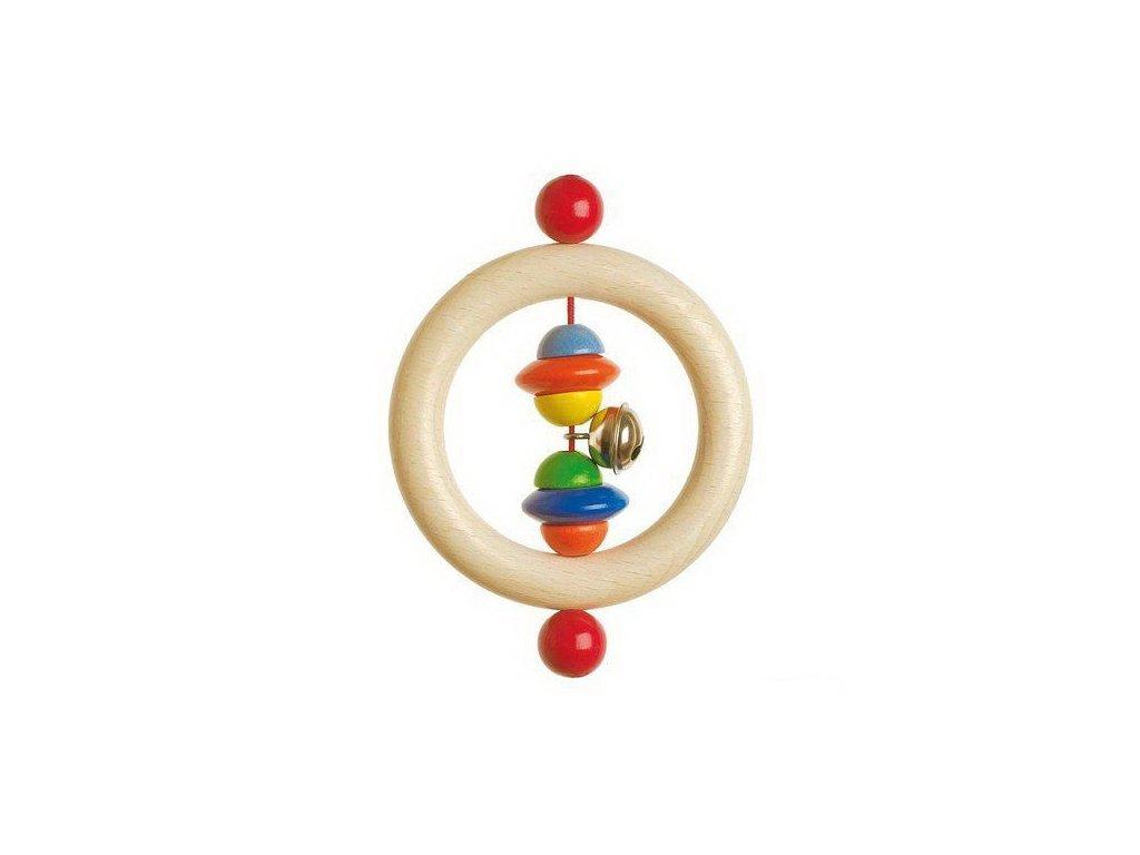 Půlkorále – dřevěný kroužek do ruky