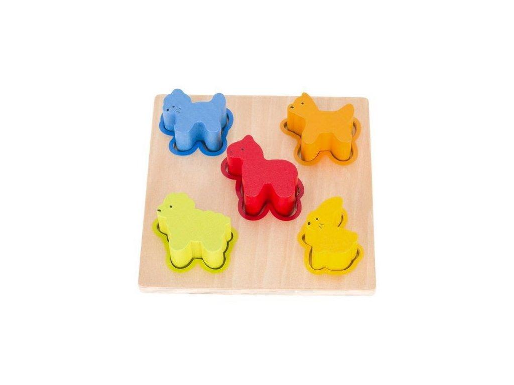 Přiřazujeme tvary a barvy – zvířátka, 5 dílů