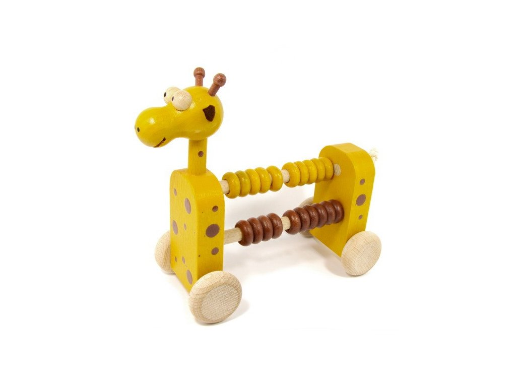 Počítadlo na kolečkách Žirafa - 20 kroužků