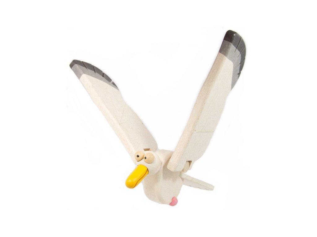 Létací racek vykulený