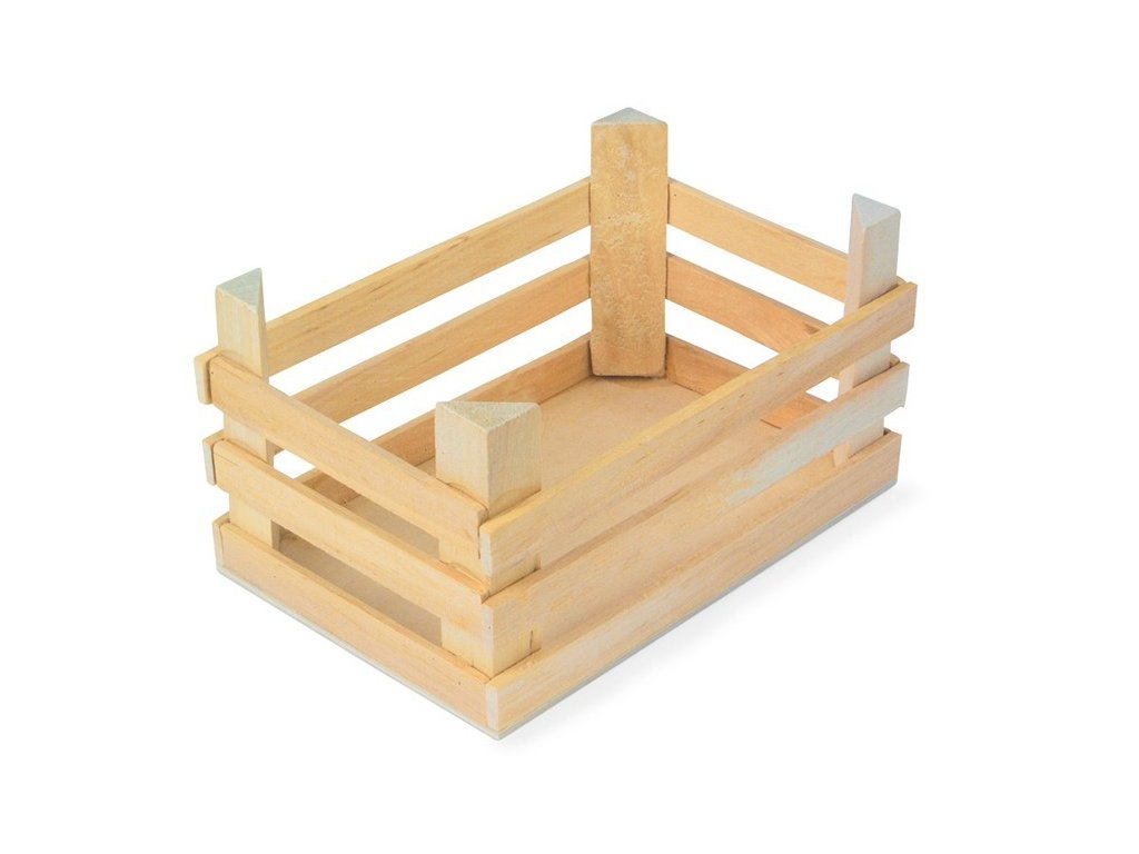 Velká dřevěná přepravka - 1ks