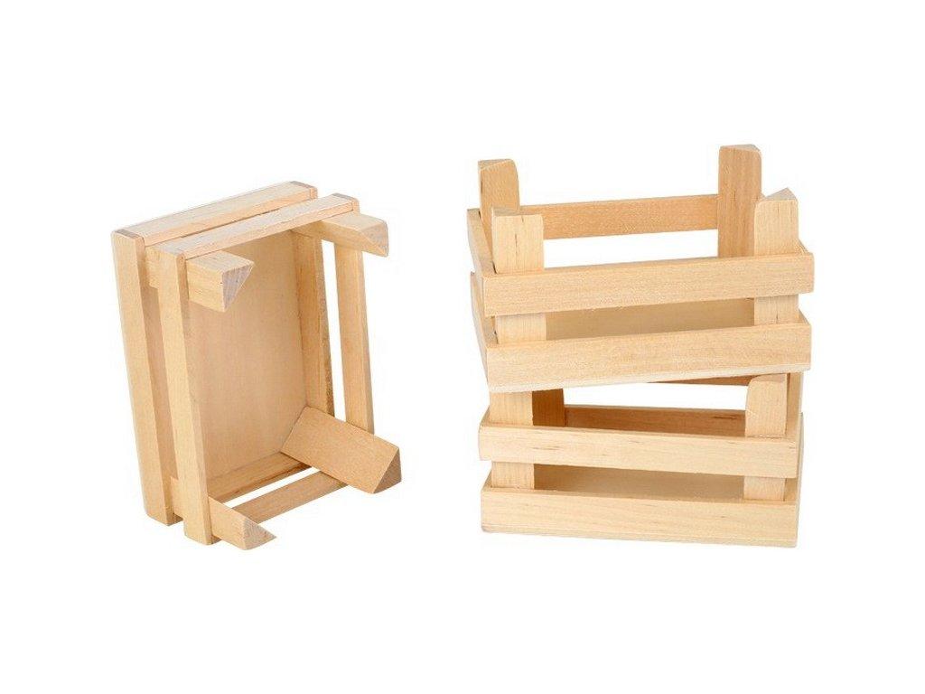 Malá dřevěná přepravka - 1ks