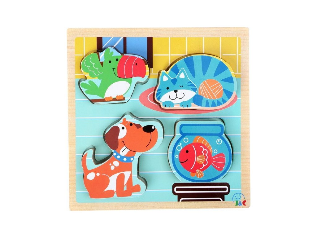Puzzle Domácí zvířata