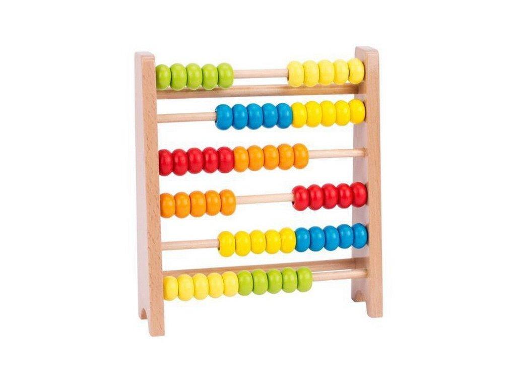 Dřevěné počítadlo, 60 kroužků