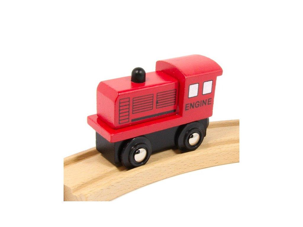 Lokomotiva velká červená - magnetická