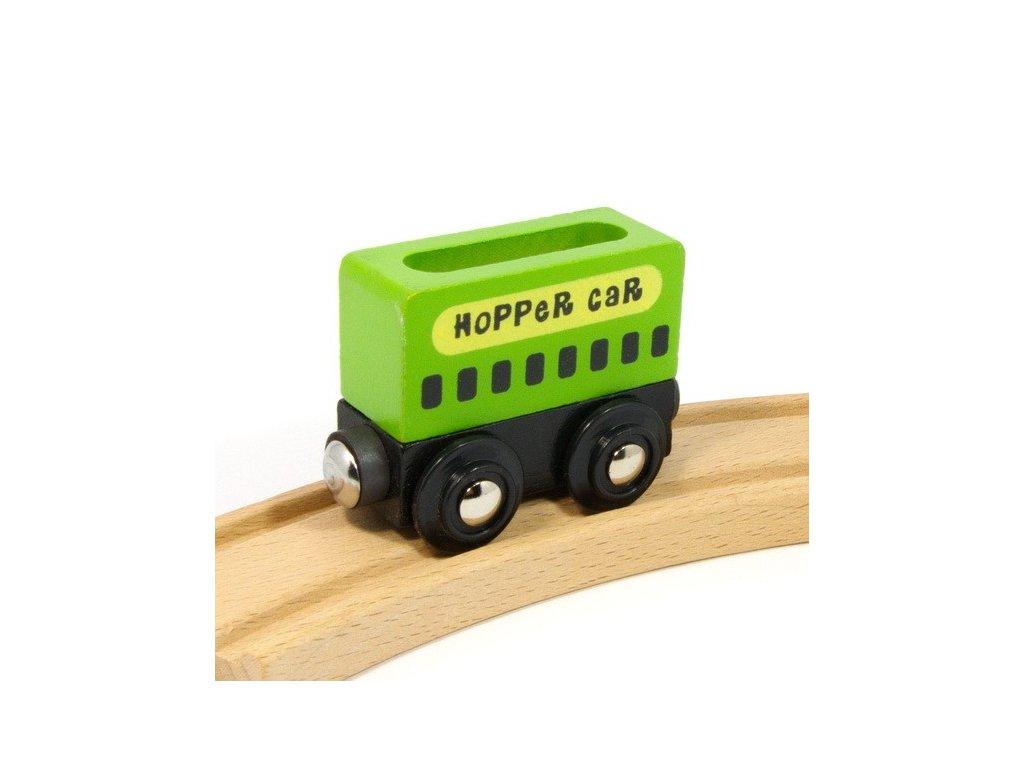 Vagónek zelený nákladní - magnetický