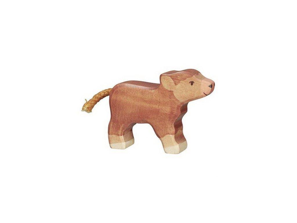 Skotské náhorní telátko – zvířátko ze dřeva