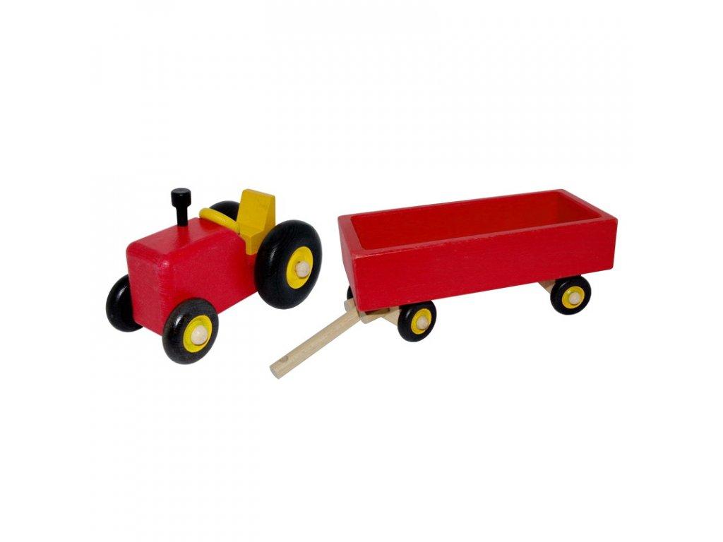 traktor červený
