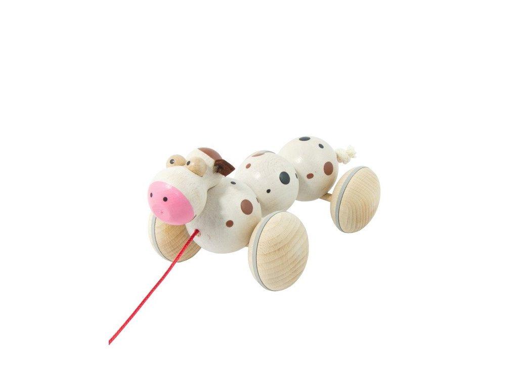 Dřevěná tahací kráva