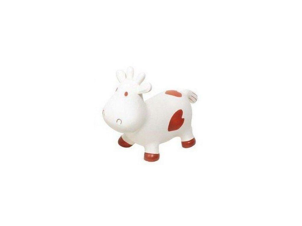 Skákací nafukovací zvířátko – Kráva hnědé fleky