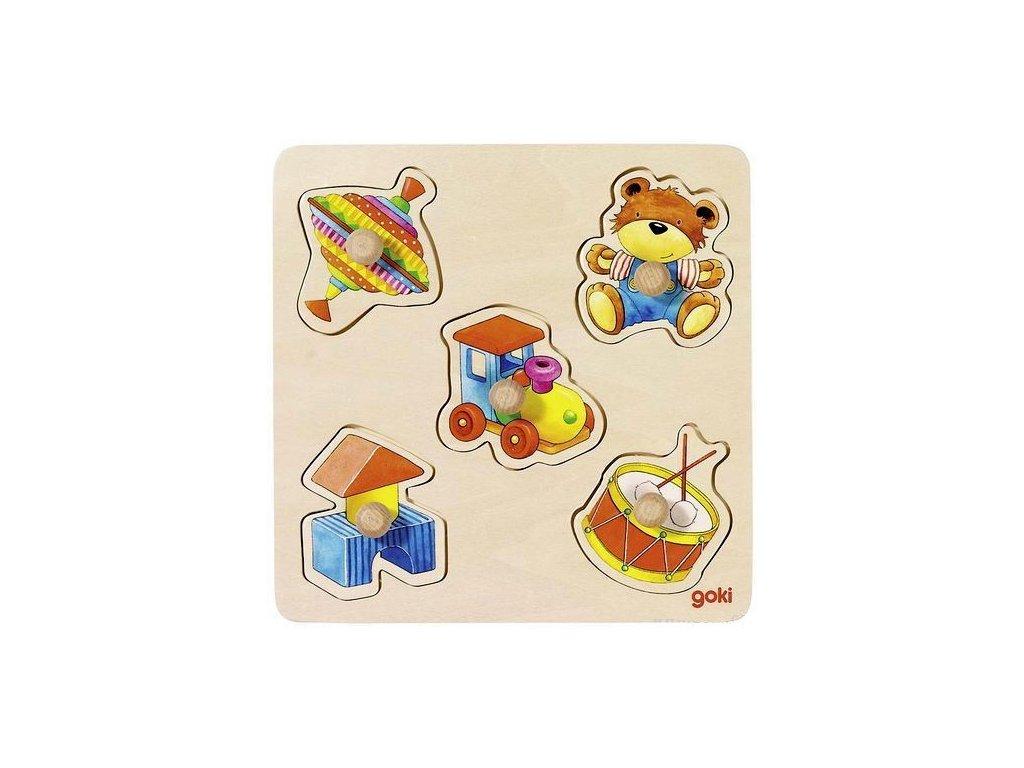 Vkládací dřevěné puzzle – moje hračky