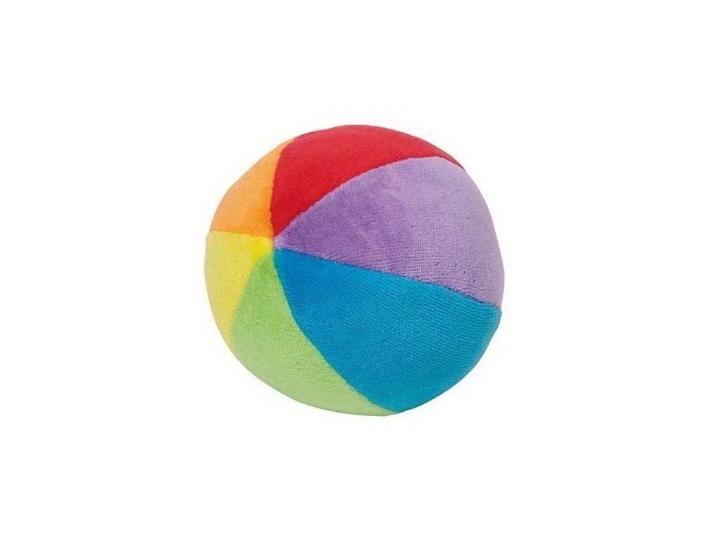 Plyšový duhový míček s chrastítkem pro nejmenší